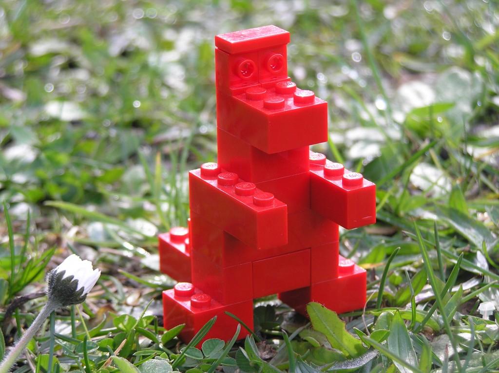 Brick-Built Red Dinosaur